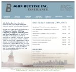 Image of John Buttine, Inc web site.